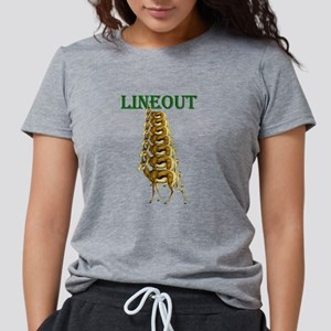 Springbok Rugby Lineout Womens Tri-blend T-Shirt